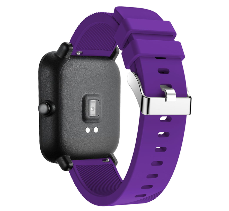 Strap-it® Xiaomi Amazfit GTS silicone band (paars)