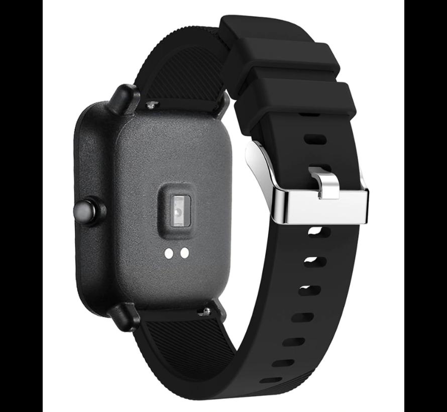 Strap-it® Xiaomi Amazfit GTS silicone band (zwart)
