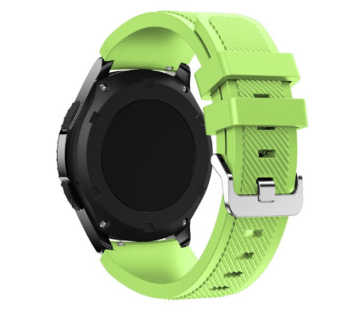 Strap-it® Strap-it® Garmin Venu siliconen bandje (lichtgroen)