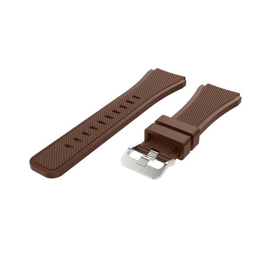 Strap-it® Garmin Venu siliconen bandje (koffiebruin)