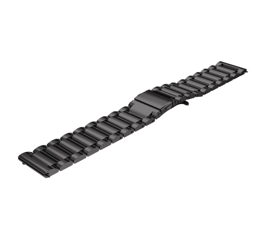 Strap-it® Garmin Venu stalen band (zwart)