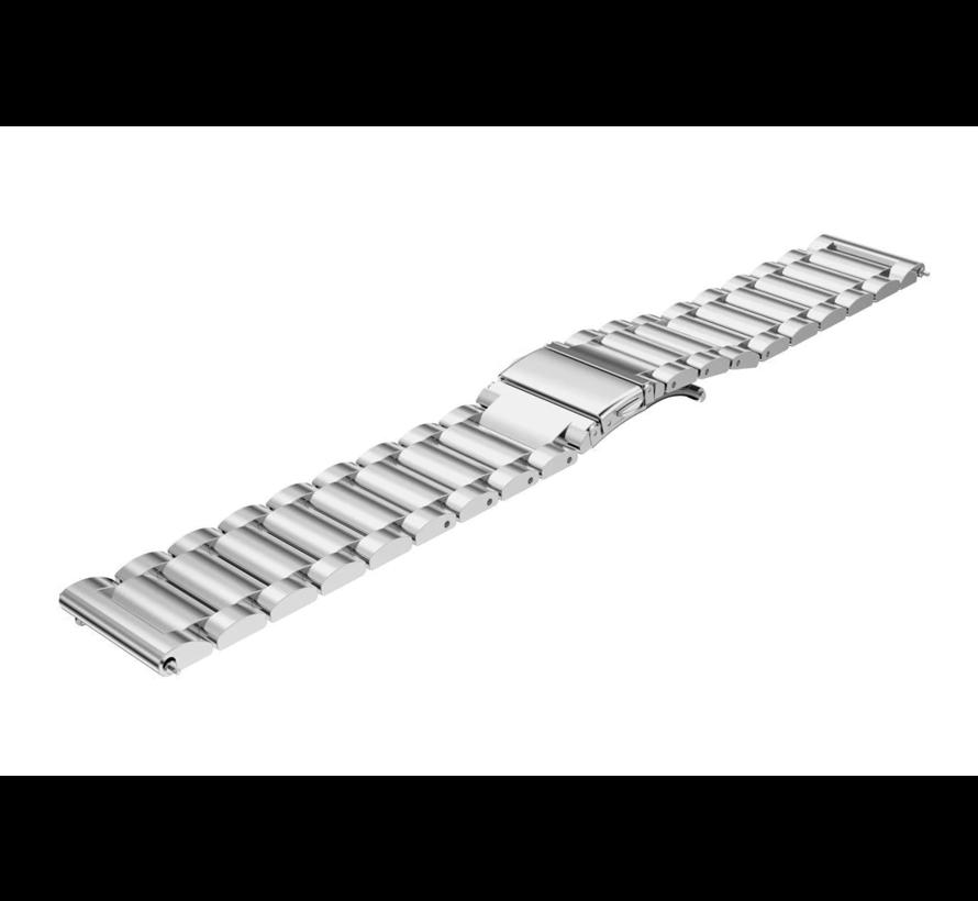 Strap-it® Garmin Venu stalen band (zilver)
