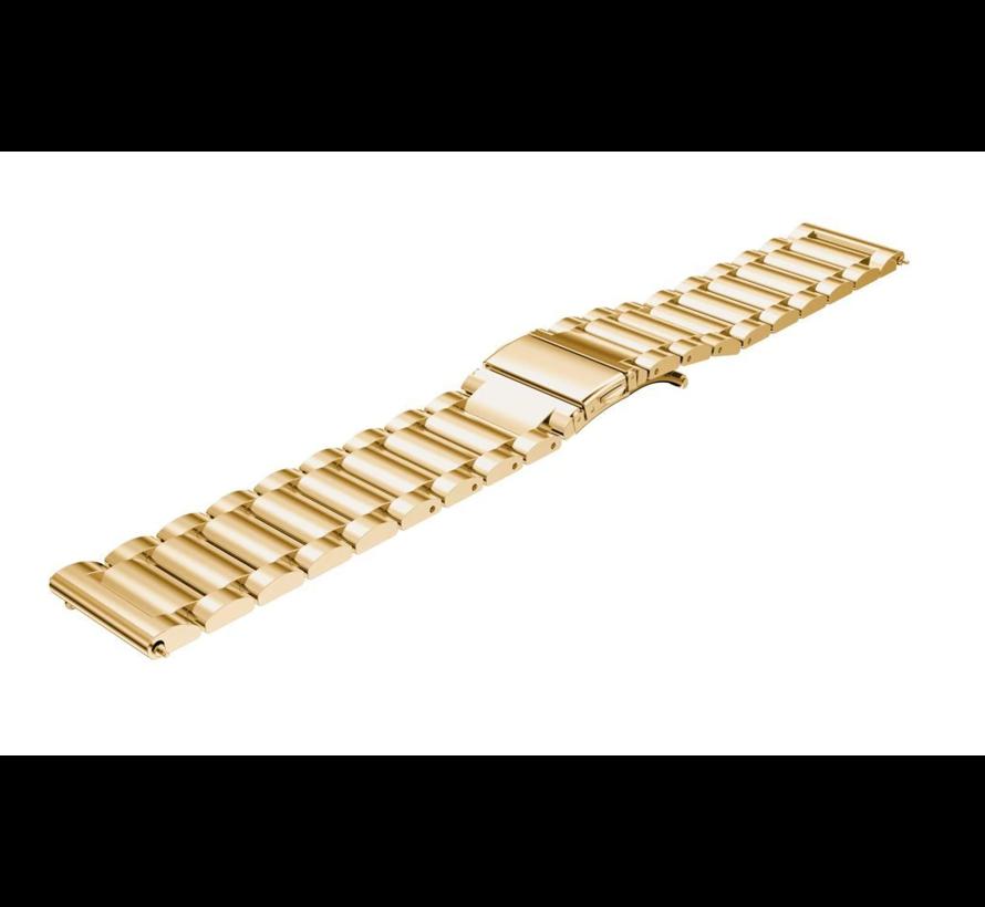 Strap-it® Garmin Venu stalen band (goud)