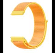 Strap-it® Garmin Venu nylon band (lichtgeel)