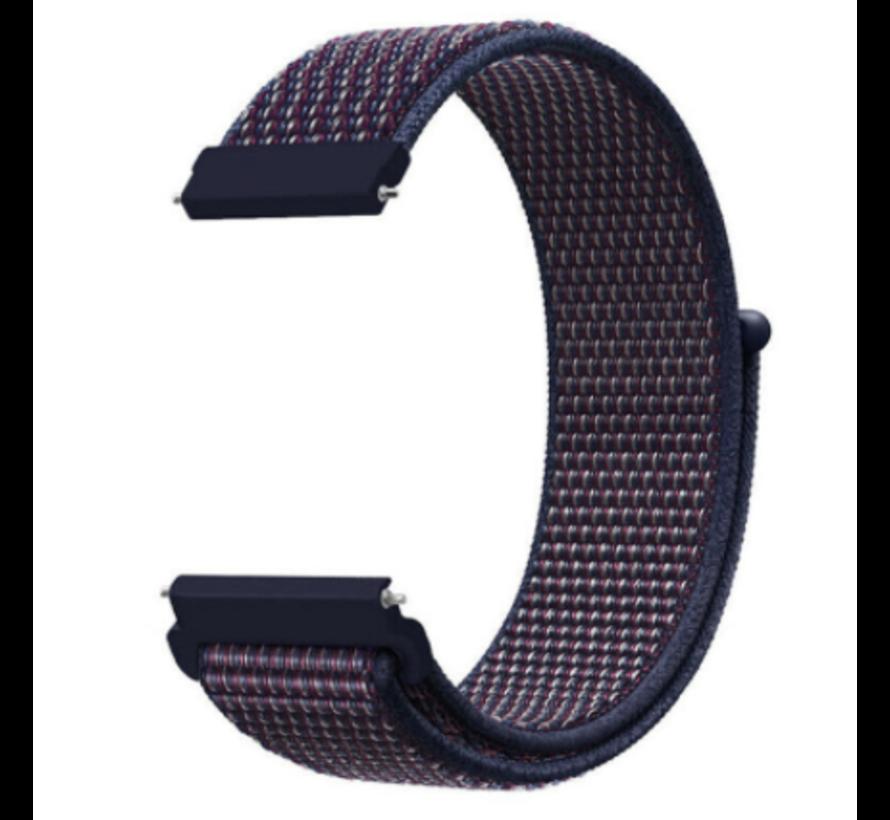 Strap-it® Garmin Venu nylon band (paars-blauw)
