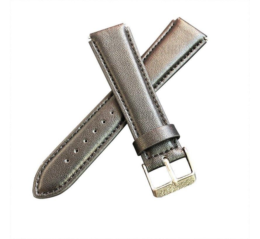 Strap-it® Garmin Vivoactive 4s leren band - 40mm - zwart