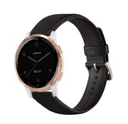 Strap-it® Garmin Vivoactive 4s leren band - 40mm - zwart