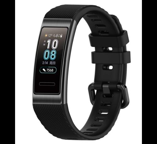 Strap-it® Strap-it® Huawei band 3 / 4 Pro silicone band (zwart)