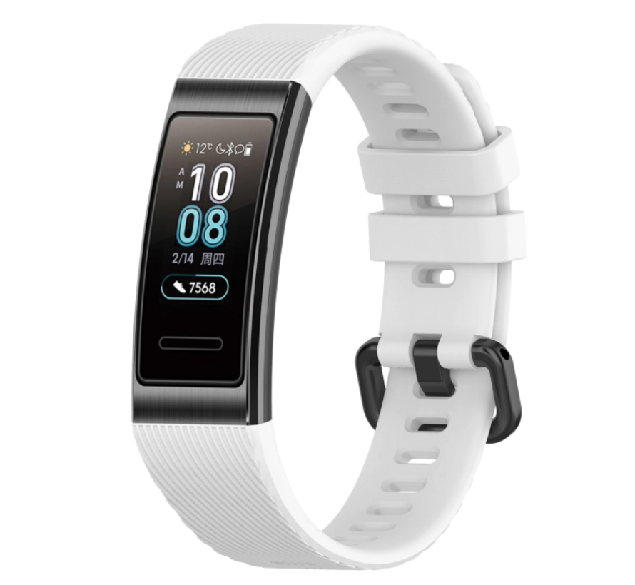 Strap-it® Huawei band 3 / 4 Pro silicone band (wit)