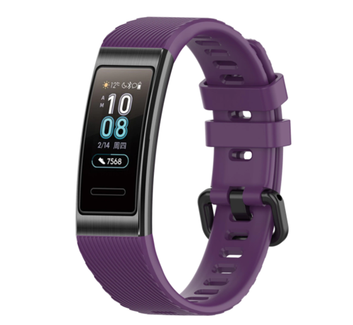 Strap-it® Strap-it® Huawei band 3 / 4 silicone band (paars)