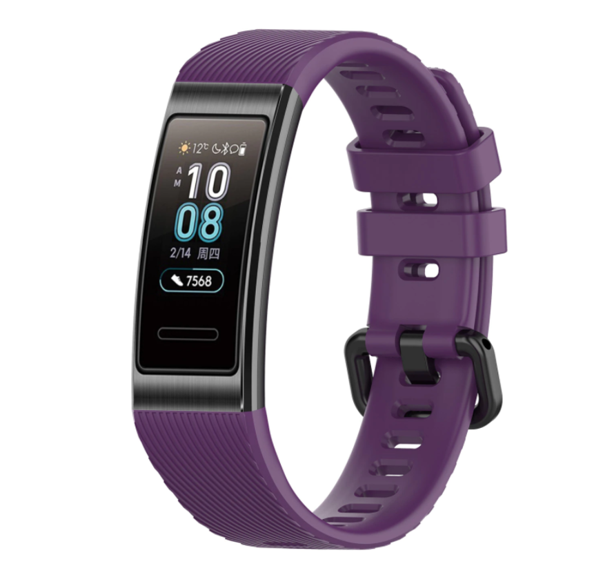 Strap-it® Huawei band 3 / 4 silicone band (paars)