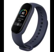 Strap-it® Xiaomi Mi band 5 siliconen bandje (paars-blauw)