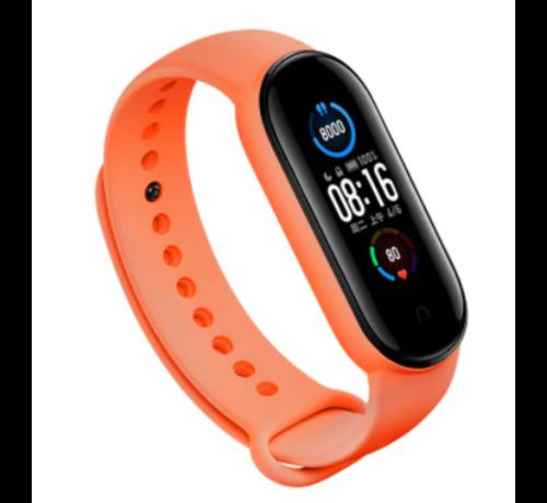 Strap-it® Strap-it® Xiaomi Mi band 5 siliconen bandje (oranje)