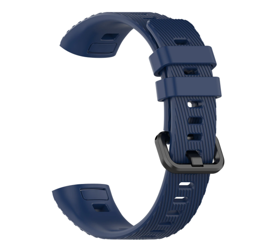 Strap-it® Huawei band 3 / 4 silicone band (donkerblauw)