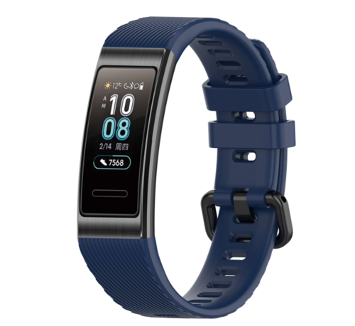 Strap-it® Strap-it® Huawei band 3 / 4 silicone band (donkerblauw)