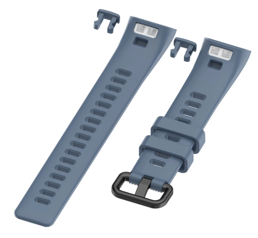 Strap-it® Huawei band 3 / 4 silicone band (grijsblauw)