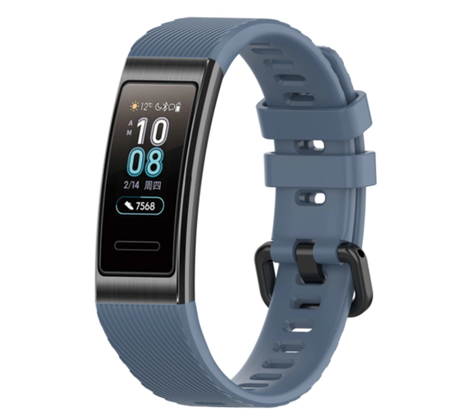 Strap-it® Strap-it® Huawei band 3 / 4 silicone band (grijsblauw)