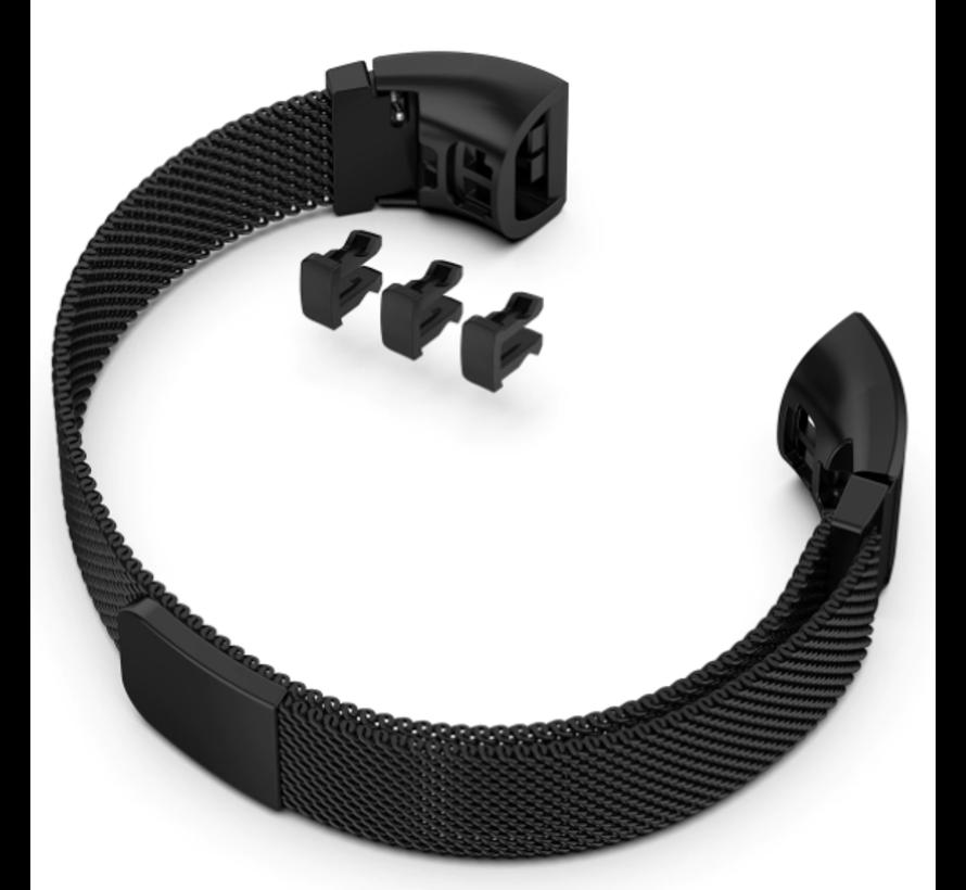 Strap-it® Huawei band 3 / 4 Pro Milanese band (zwart)