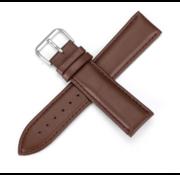 Strap-it® Garmin Vivomove 3s leren bandje - 39mm - roodbruin