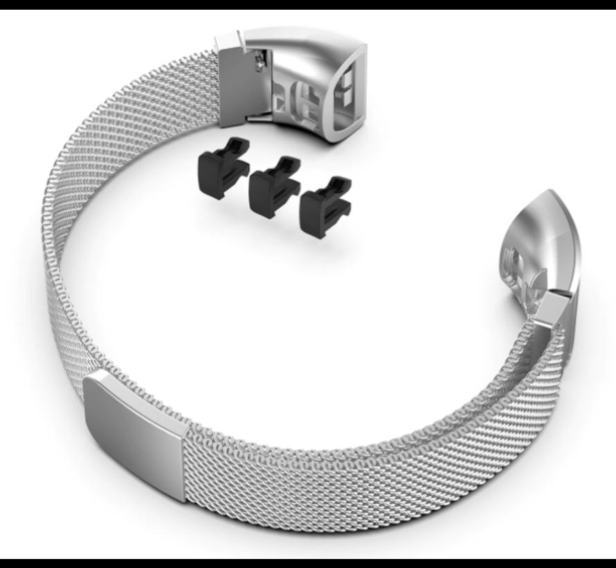 Strap-it® Huawei band 3 / 4 Pro Milanese band (zilver)