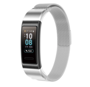 Strap-it® Huawei band 3 / 4 Pro Milanese band (zilver)