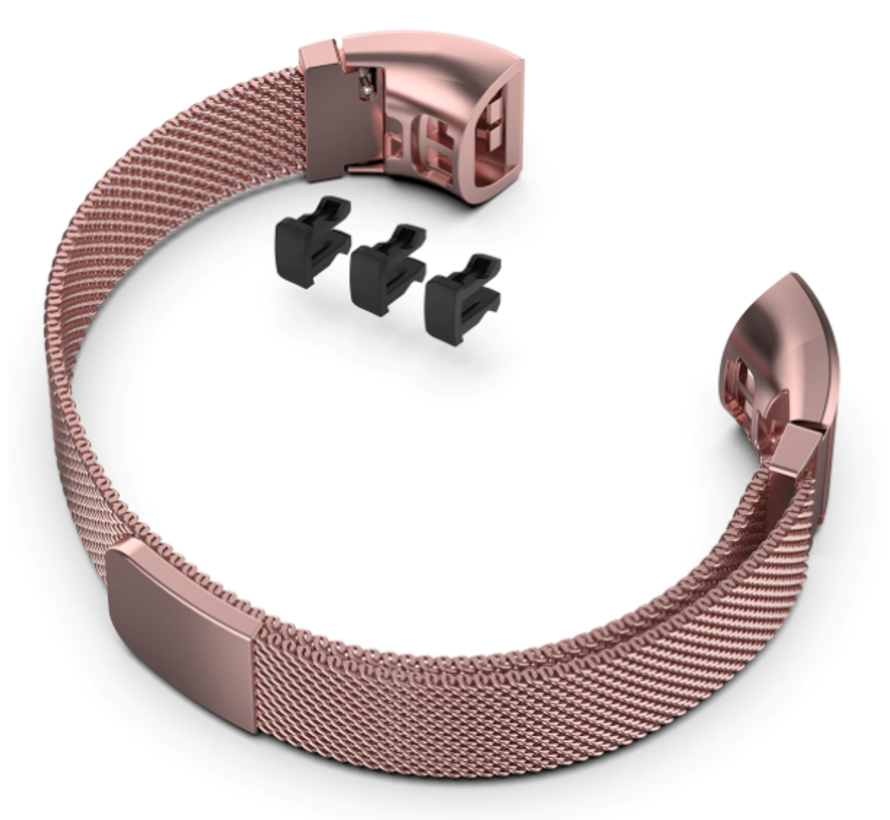 Strap-it® Huawei band 3 / 4 Pro Milanese band (rosé pink)
