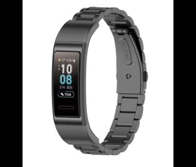 Strap-it® Strap-it® Huawei band 3 / 4 Pro stalen band (zwart)