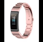 Strap-it® Huawei band 3 / 4 Pro stalen band (rosé pink)
