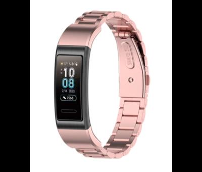 Strap-it® Strap-it® Huawei band 3 / 4 Pro stalen band (rosé pink)