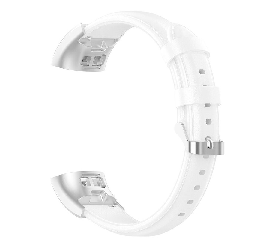 Strap-it® Huawei band 3 / 4 Pro leren bandje (wit)