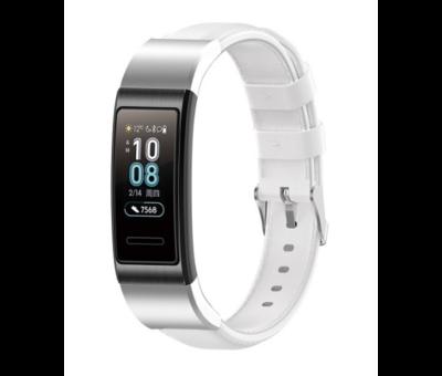 Strap-it® Strap-it® Huawei band 3 / 4 Pro leren bandje (wit)