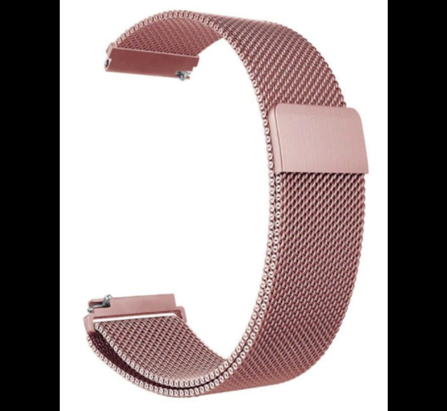 Strap-it® Garmin Venu Milanese band (roze)