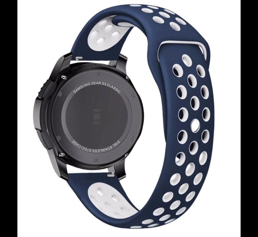 Strap-it® Garmin Venu sport band (blauw/wit)