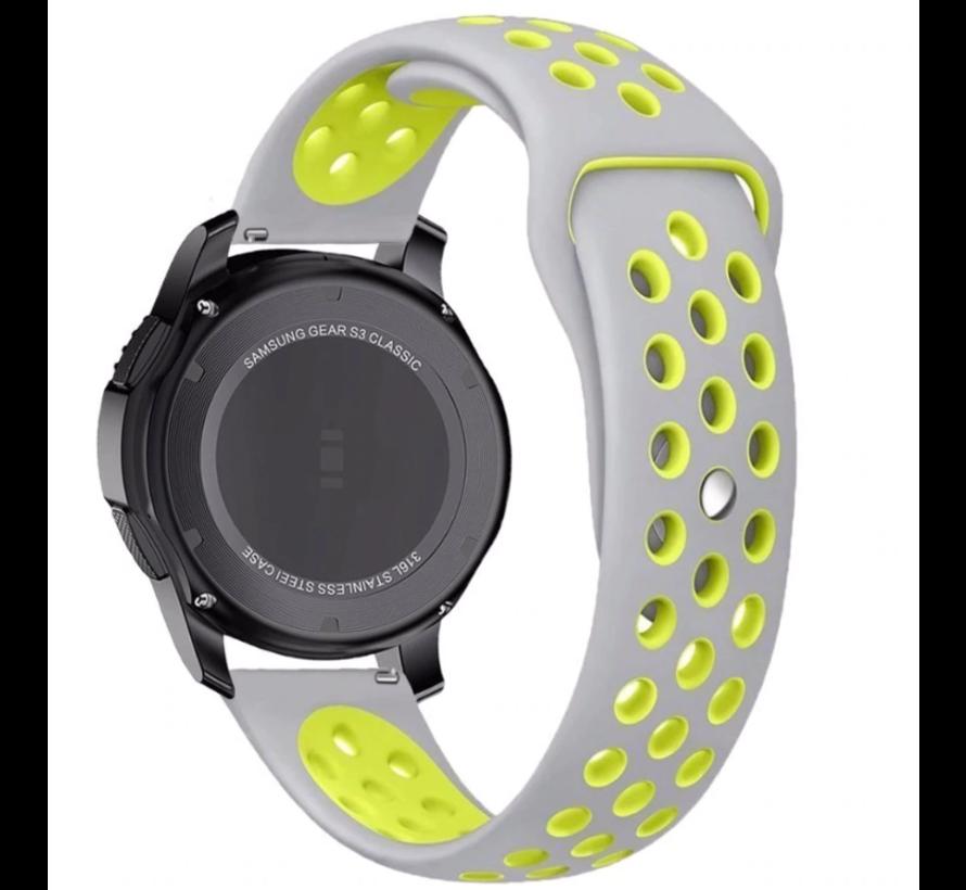 Strap-it® Garmin Venu sport band (grijs/geel)
