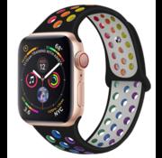 Apple Watch sport+ band (kleurrijk zwart)