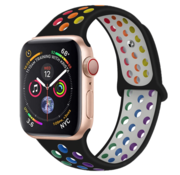 Strap-it® Apple Watch sport+ band (kleurrijk zwart)
