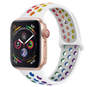Strap-it® Apple Watch sport+ band (kleurrijk wit)