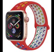 Apple Watch sport+ band (kleurrijk rood)
