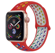 Strap-it® Apple Watch sport+ band (kleurrijk rood)