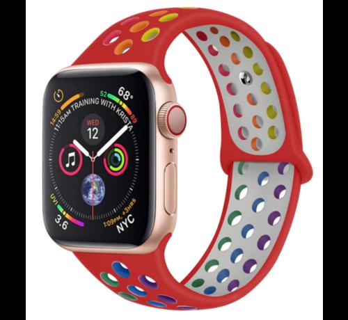 Strap-it® Strap-it® Apple Watch sport+ band (kleurrijk rood)