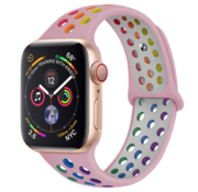 Strap-it® Apple Watch sport+ band (kleurrijk roze)