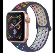 Apple Watch sport+ band (kleurrijk donkerblauw)