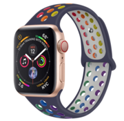 Strap-it® Apple Watch sport+ band (kleurrijk donkerblauw)
