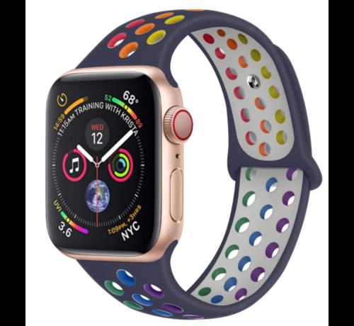 Strap-it® Strap-it® Apple Watch sport+ band (kleurrijk donkerblauw)