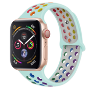 Strap-it® Apple Watch sport+ band (kleurrijk lichtblauw)