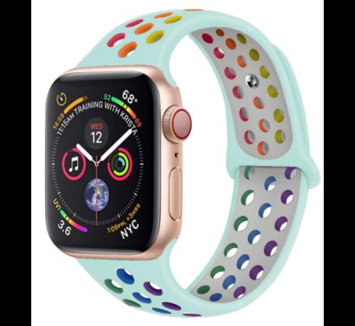 Strap-it® Strap-it® Apple Watch sport+ band (kleurrijk lichtblauw)