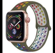 Apple Watch sport+ band (kleurrijk olijfgroen)