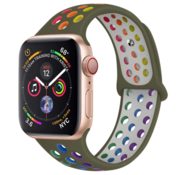 Strap-it® Apple Watch sport+ band (kleurrijk olijfgroen)