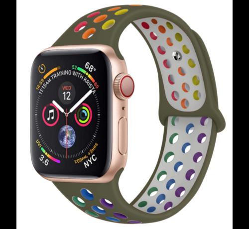 Strap-it® Strap-it® Apple Watch sport+ band (kleurrijk olijfgroen)