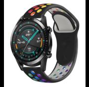 Strap-it® Huawei Watch GT sport band (kleurrijk zwart)